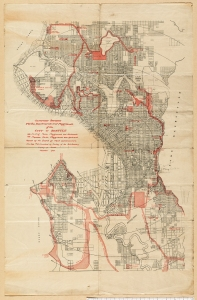 Plan for Seattle Park System 1908